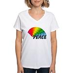 Rainbow Peace Women's V-Neck T-Shirt