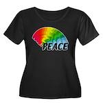 Rainbow Women's Plus Size Scoop Neck Dark T-Shirt
