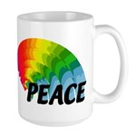 Rainbow Peace Large Mug