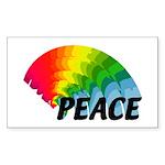 Rainbow Peace Sticker (Rectangle 10 pk)