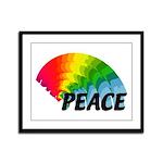 Rainbow Peace Framed Panel Print