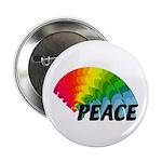 """Rainbow Peace 2.25"""" Button"""