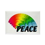 Rainbow Peace Rectangle Magnet (10 pack)