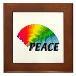 Rainbow Peace Framed Tile