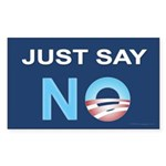 Just say NO sticker (Rect)