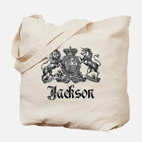 Jackson Vintage Crest Family Name Tote Bag