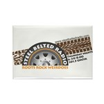 Steel Belted Radio Rectangle Magnet (100 pack)