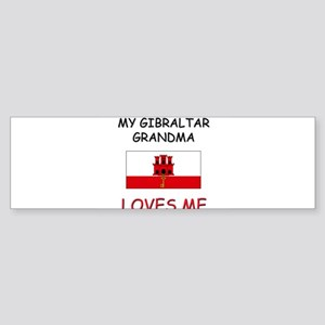 My Gibraltar Grandma Loves Me Bumper Sticker