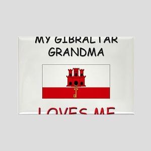 My Gibraltar Grandma Loves Me Rectangle Magnet