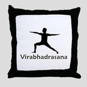 Virabhadrasana Throw Pillow