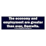 MAGA economy, Demwits Sticker (Bumper)