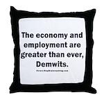 MAGA economy, Demwits Throw Pillow