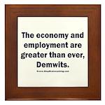 MAGA economy, Demwits Framed Tile