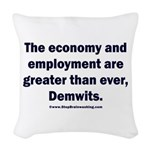 MAGA economy, Demwits Woven Throw Pillow