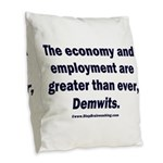MAGA economy, Demwits Burlap Throw Pillow