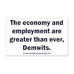MAGA economy, Demwits 20x12 Wall Decal