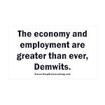 MAGA economy, Demwits 35x21 Wall Decal