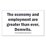 MAGA economy, Demwits Sticker (Rectangle)