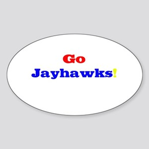 Go Jayhawks! Oval Sticker