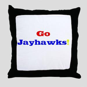 Go Jayhawks! Throw Pillow