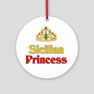 Sicilian Princess Ornament (Round)