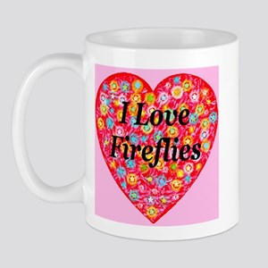 I Love Fireflies Mug