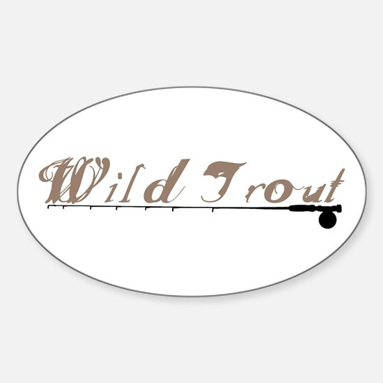 Wild Trout Fishing Oval Decal