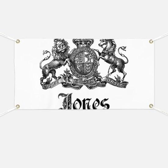 Jones Vintage Crest Family Name Banner