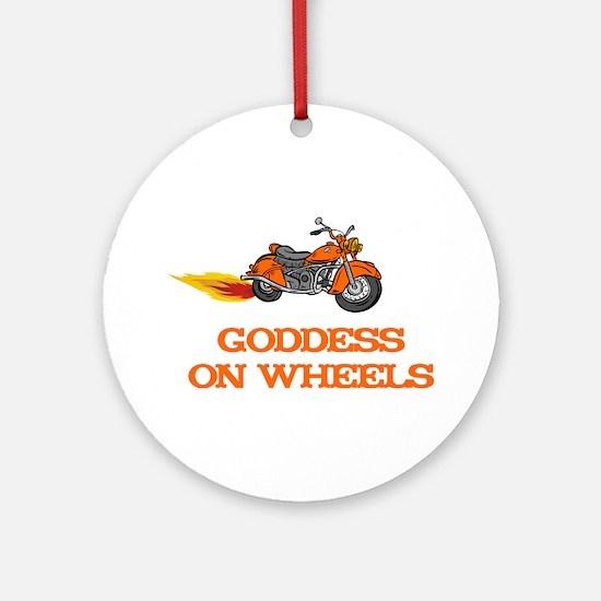 Goddess on Wheels Ornament (Round)