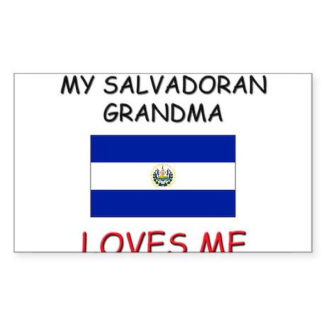 My Salvadoran Grandma Loves Me Rectangle Sticker