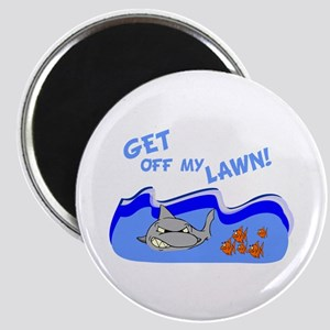 Get off of my lawn! Magnet