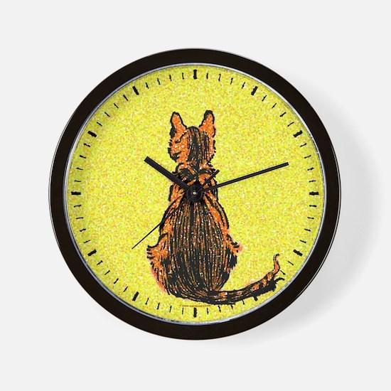 Pointilistic Cat Wall Clock