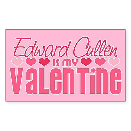 Edward Twilight Valentine Rectangle Sticker