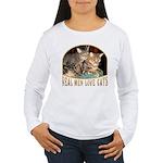 Real Men Love Cats Women's Long Sleeve T-Shirt