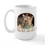 Real Men Love Cats Large Mug