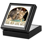 Real Men Love Cats Keepsake Box