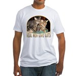 Real Men Love Cats Fitted T-Shirt