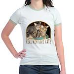 Real Men Love Cats Jr. Ringer T-Shirt