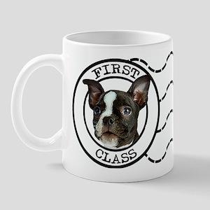 First Class Boston Terrier Mug