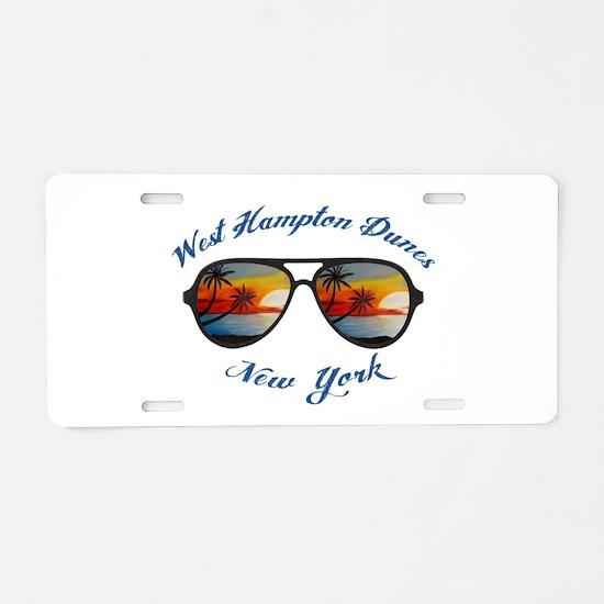 New York - West Hampton Dun Aluminum License Plate