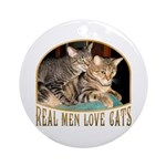 Real Men Love Cats Ornament (Round)