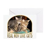 Real Men Love Cats Greeting Cards (Pk of 10)