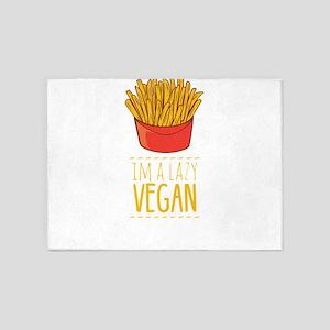 I'm a Lazy Vegan Healthy Life W 5'x7'Area Rug