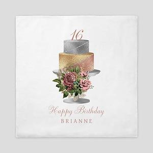 Any Age Birthday Cake Queen Duvet