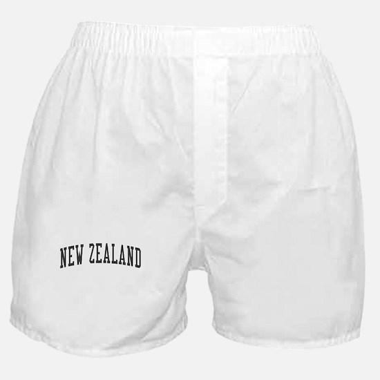 New Zealand Black Boxer Shorts