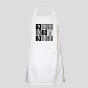 Black and White Pop Art Lincoln BBQ Apron