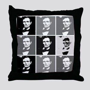 Black and White Pop Art Lincoln Throw Pillow