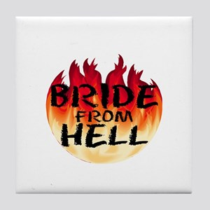 Bride From Hell Tile Coaster