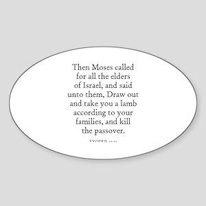 EXODUS 12:21 Oval Sticker