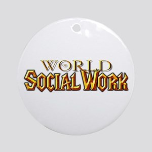 World of Social Work Ornament (Round)